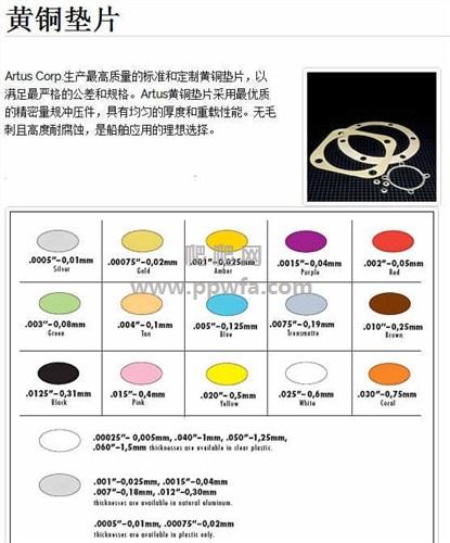 高品质进口塑料黄铜薄垫片价格 Artus Corp黄金色塑料薄片 爬爬网供