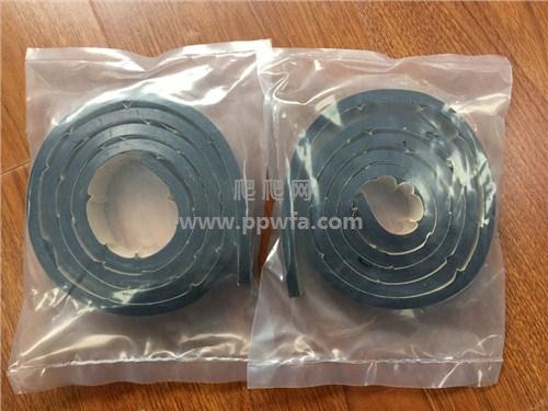 聚氨酯橡胶条 背胶条生产厂家 6.34mm厚 爬爬网供