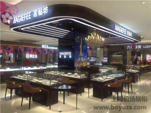 供应上海珠宝柜的装修设计的厂家排名 伯扬供