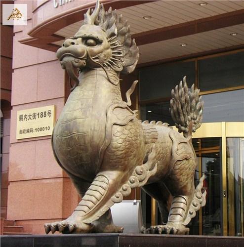 海南景观雕塑园林雕塑铜麒麟高性价比的选择 浦宇供应